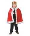 Rode koning kleding kinderen
