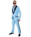 Lichtblauw gangnam kostuum voor mannen