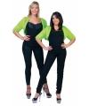 Groen jaren 50 bontjasje voor dames