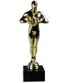 Gouden award beeld van 22 cm