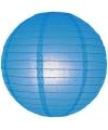 Blauwe bol lampion 25 cm