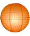 Oranje lampionnen rond 25 cm