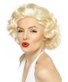 Blonde pruik met krullen