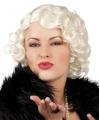 Blonde pruik jaren zestig voor dames