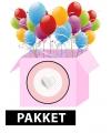Geboorte meisje deco pakket roze ster
