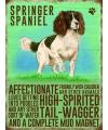 Wand decoratie Springer Spaniel