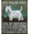 Wand decoratie West Higland terrier