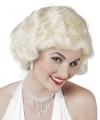 Blonde korte damespruik met krulletjes