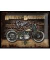 Nostalgisch muurplaatje Harley Davidson Genuine 30 x 40 cm