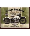 Nostalgisch muurplaatje Harley Davidson