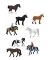 10 stuks paarden met ruiters