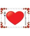 Voordelige papieren liefde placemats