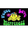 Feestvlag Peace, Love, Happiness