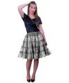 Zilveren petticoats met 5 lagen