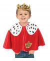 Koning verkleed poncho voor peuters