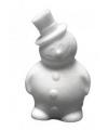 Beschilderbaar styrofoam sneeuwman 17 cm