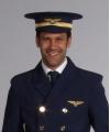Blauwe piloten hoed de luxe