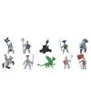 Plastic poppetjes van ridders en draken