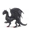 Decoratie draak zwart 15 cm