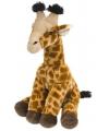 Giraffe knuffel met kraalogen 30 cm