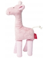 Pluche giraffe knuffeldier roze 19 cm
