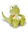 Speelgoed knuffel hagedis groen 25 cm