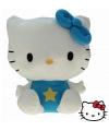 Pluche Hello Kitty knuffel blauw 35 cm