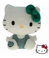 Pluche Hello Kitty knuffel groen 25 cm