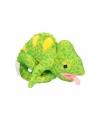 Groene kameleon knuffel 19 cm