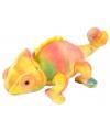 Gekleurde kameleon knuffel 20 cm