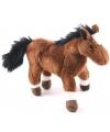 Bruin knuffel paardje 19 cm