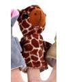 Pluche knuffel giraffe vingerpopje 8cm