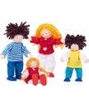 Buigbare poppen familie 4 stuks