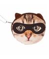 Mini tasje bruine kat met masker