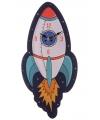Space wandklok voor kinderkamer