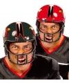 American football verkleedhelm rood