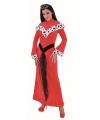 Vrouwelijke rode koninginnenjurk