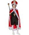 Rode konings mantel voor kinderen