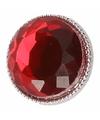 Rode robijn drukknoop 1,8 cm