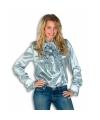 Rouches shirt voor dames zilver