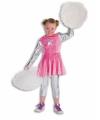 Kids cheerleader kostuum roze