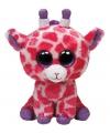 Roze Ty Beanie giraffe kado knuffel 24 cm