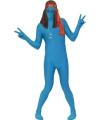Second skin kostuum blauw