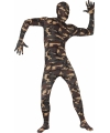 Second skin kostuum legerprint