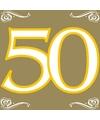 Verjaardags servetten 50 jaar goud