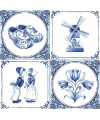 Holland thema servetten met Delfts blauwe opdruk