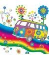Hippie thema servetten 20 stuks