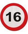 16 Jaar verkeersborden servetten
