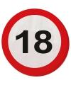 18 Jaar verkeersborden servetten