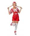 Korte Oktoberfest lederhose rood